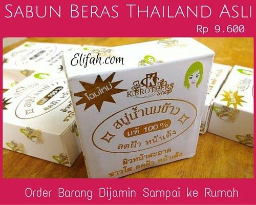 gambar sabun beras thailand asli bermanfaat harga 9600