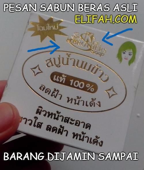 sabun susu beras k brothers asli dengan logo emas