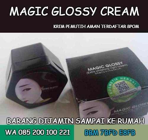 cream pemutih wajah magic glossy
