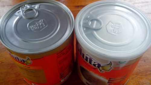 gluta drink kaleng 250gr dengan emboss asli