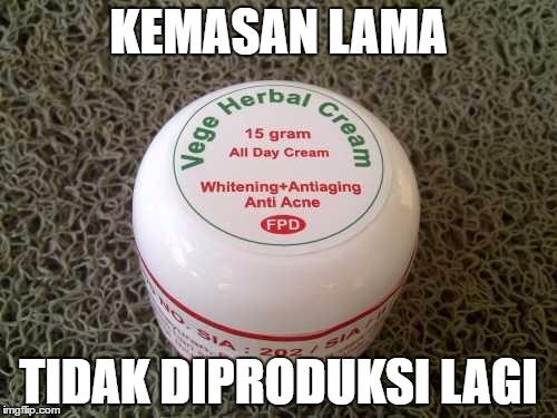 vege cream kemasan lama tidak diproduksi lagi