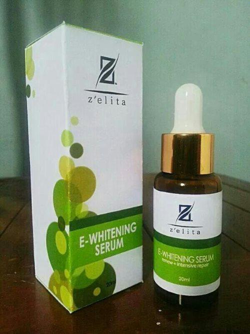 kemasan zelita e whitening serum anti aging kecantikan isi 20ml