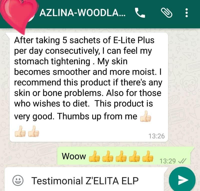 E Lite plus menghaluskan dan melembabkan kulit